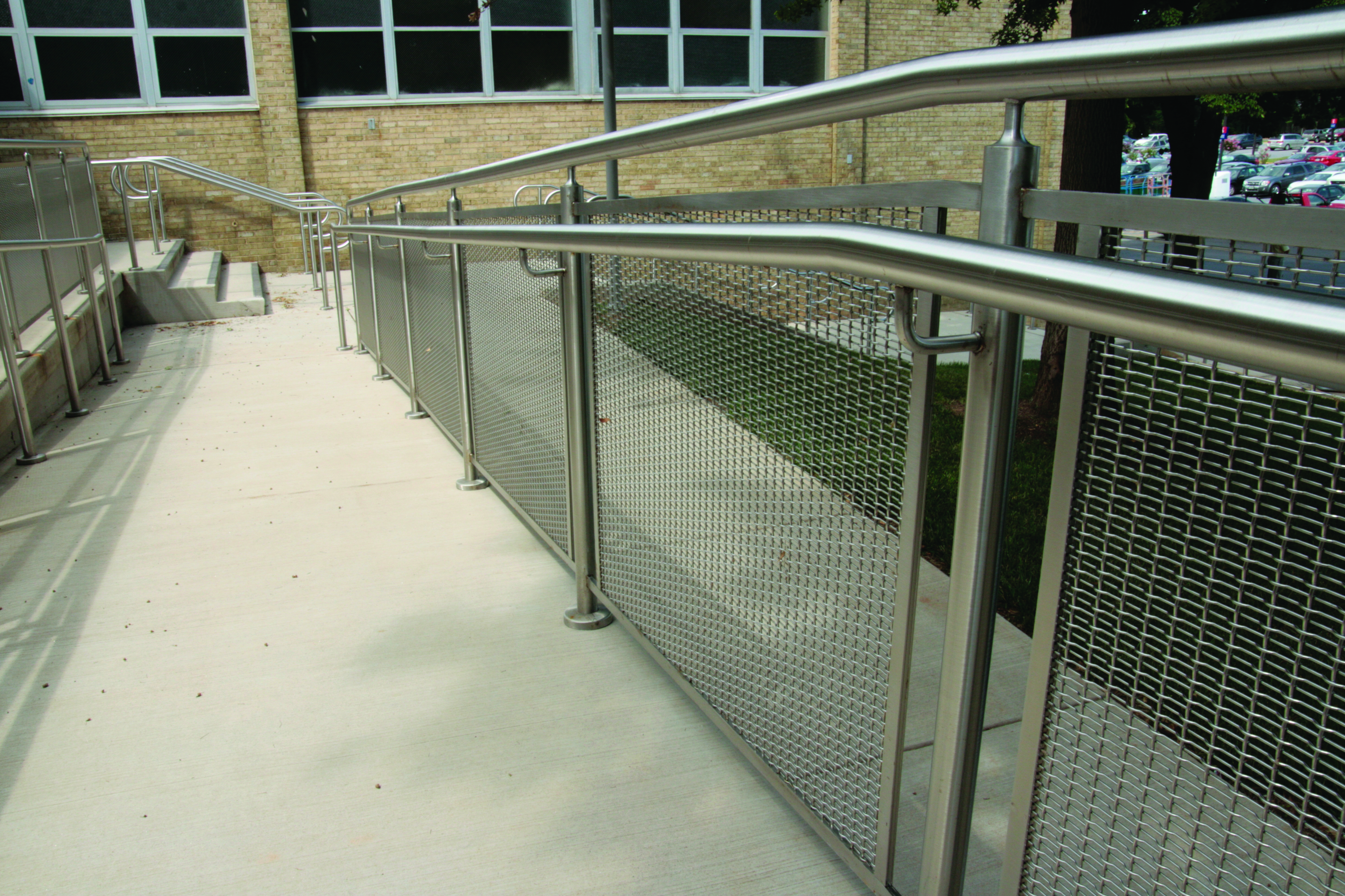 Architectural Woven Wire Infill For Railing Wagner
