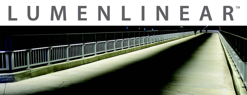 handrailing along a walkway containing Lumenlinear lighting