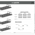 Wagner Glass Railing - Legato Flat Post BIM Drawing