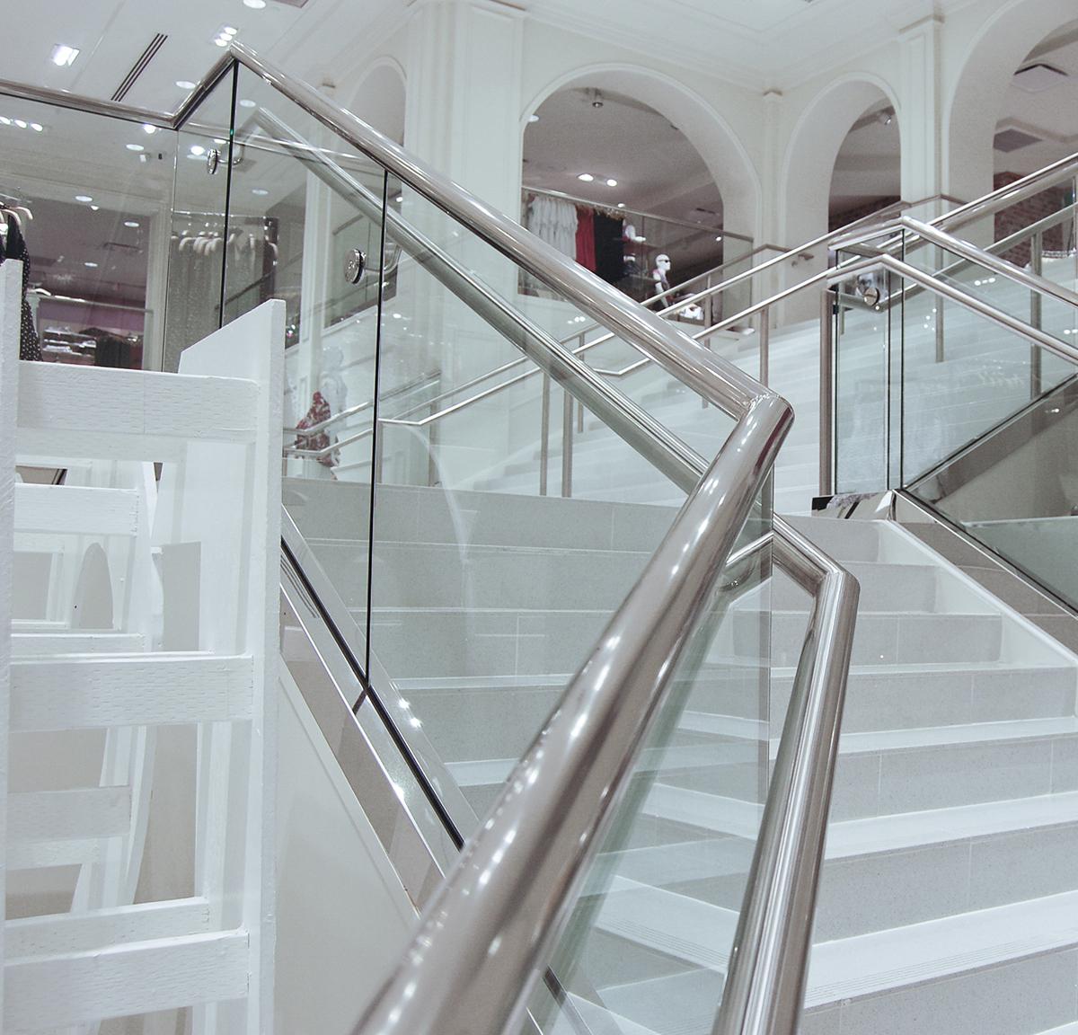Retail PanelGrip Glass Railing