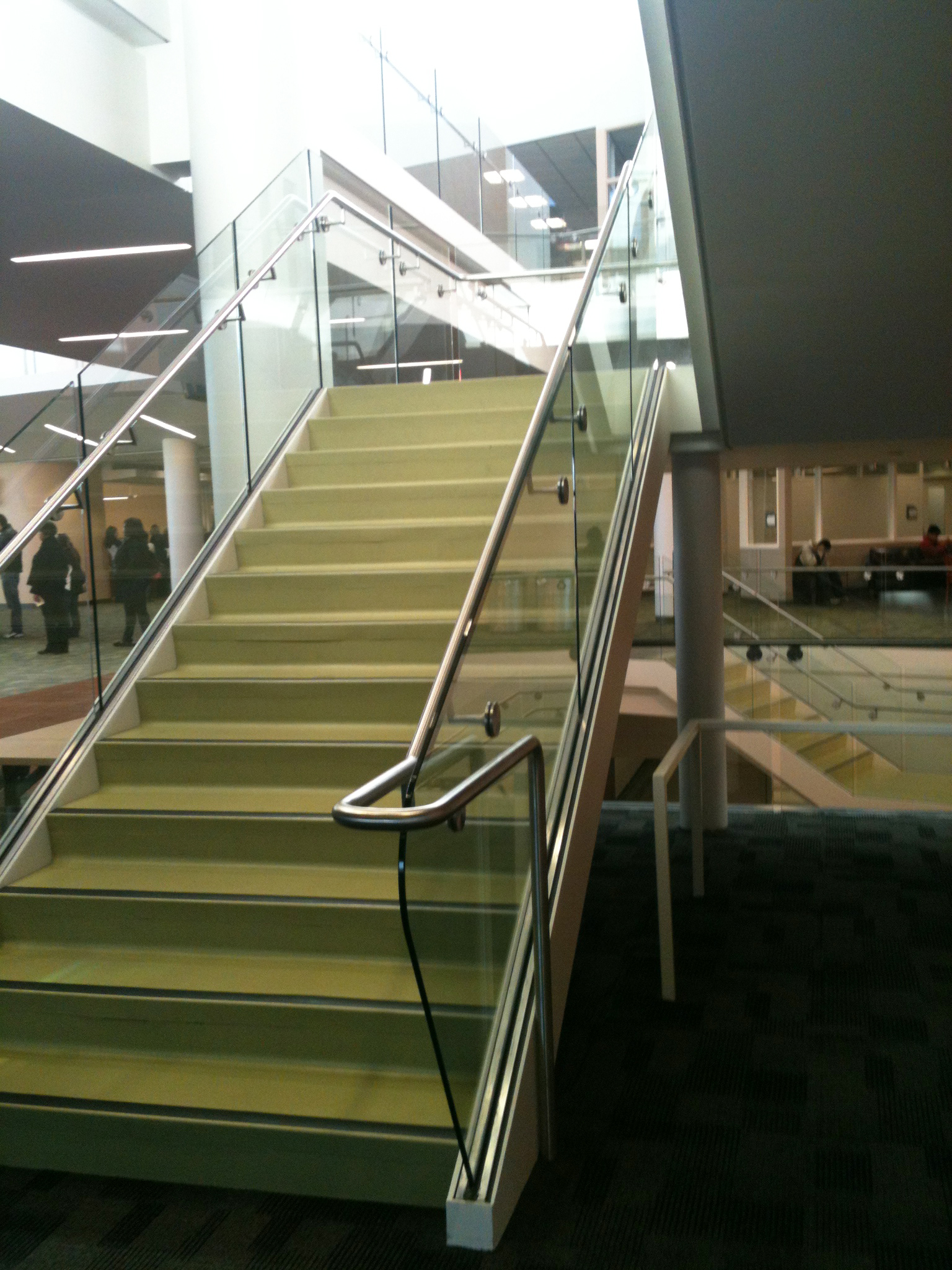 College of DuPage, Glass Railing