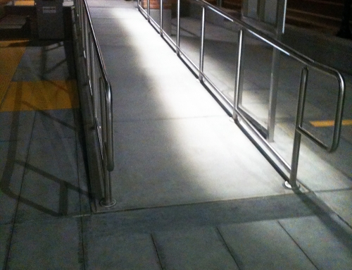 Township Rail Station, Sacramento, CA – Lighted Railing