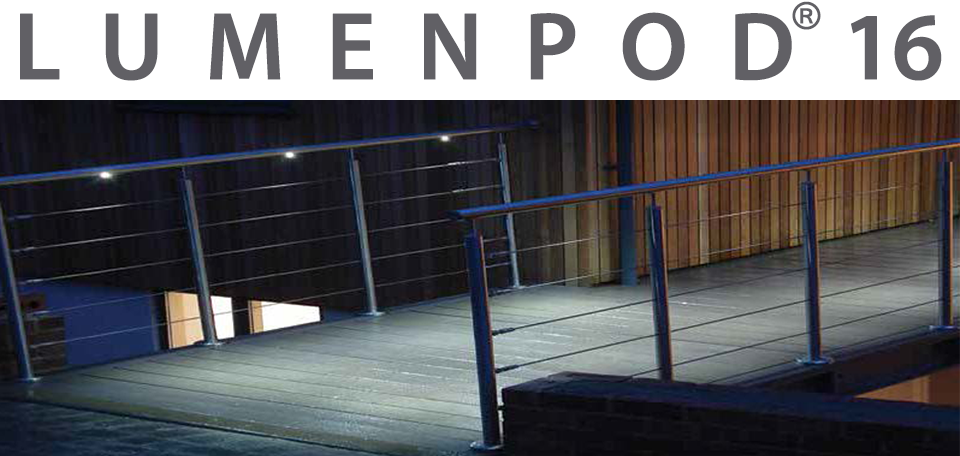 Lumenpod Lighted Railing Solution on a Pedestrian Ramp