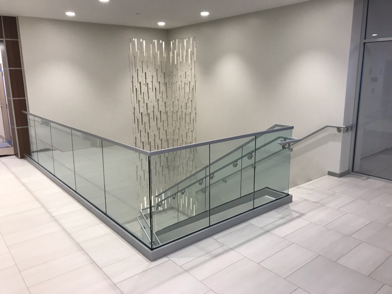 Glass balustrade and cable railing for staircase ,balcony and pool fence , stainless steel railings