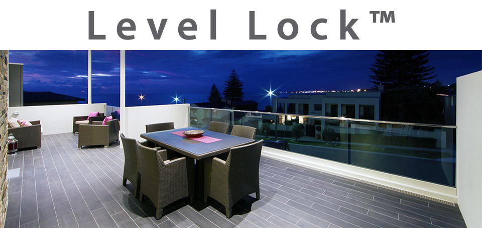 deck with level lock glass base shoe moulding